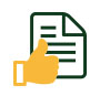 document and thumbs up icon